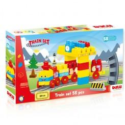 Dolu - Едукативен воз со коцки 58 делови