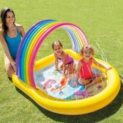 Intex базен со заштита од сонце 147х130х86см