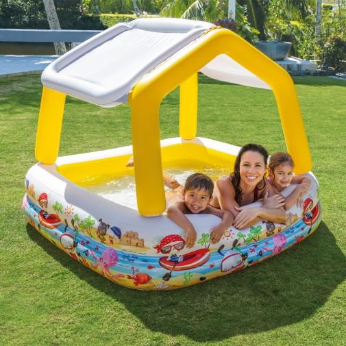Intex базен со покрив 157х157х122см