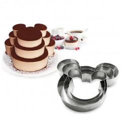 Mouse - Сет од 3 калапи за торти и колачи